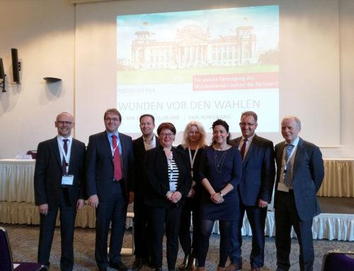"""Politischer Talk """"Wunden vor den Wahlen"""" vom Deutschen Wundrat und ICW."""