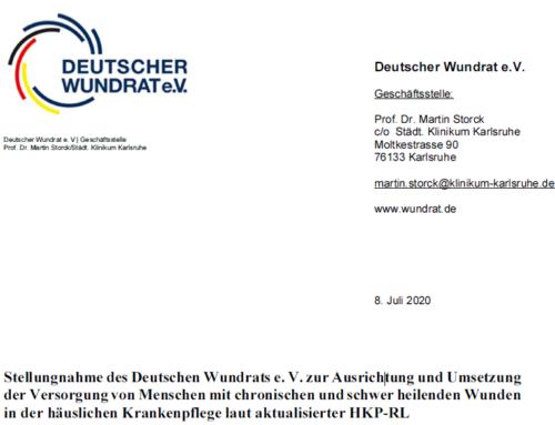 Stellungnahme des Deutschen Wundrat e. V.